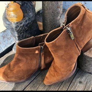 SAM EDELMAN Macon block heel boot double sided zip